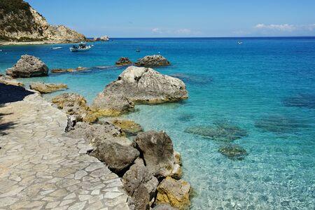 blue waters: Blue Waters of the Agios Nikitas Beach Lefkada Ionian Islands Greece