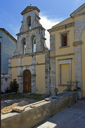 Medieval Stone Church in the Lefkada town Ionian Islands Greece photo