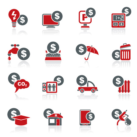 car bills: payment of  bills icons  vector icon set