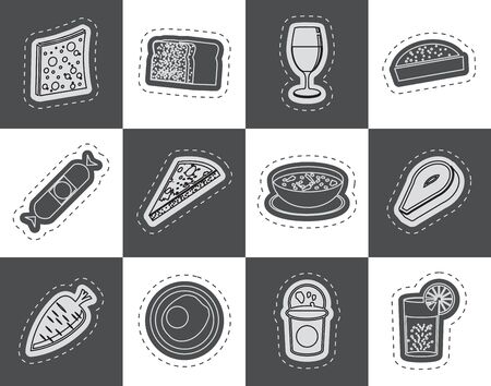 Shop food and drink icons 2  vector icon set Vector