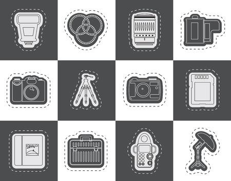 polarize: Photography equipment icons  vector icon set