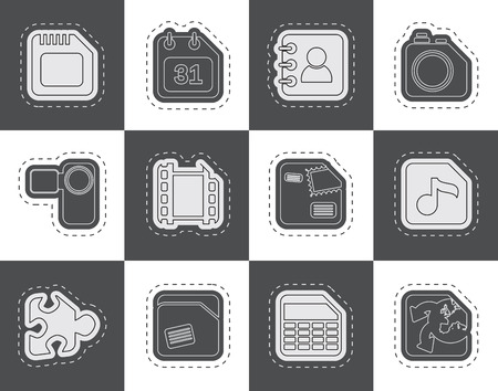 Mobile Phone Computer and Internet Icons  Vector Icon Set Vector