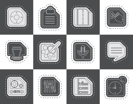 mobile internet: Mobile Phone Computer and Internet Icons  Vector Icon Set 3