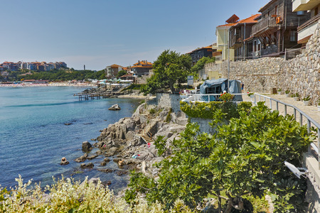 archeologist: Panoramic view of embankment, Sozopol town, Bulgaria