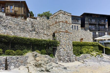 reconstructed: A reconstructed gate part of Sozopol ancient fortifications, Bulgaria Editorial