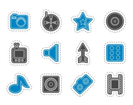 entertainment: Entertainment Icons - Vector Icon Set