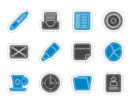 date book: Office  Business Icons - Vector icon Set Illustration