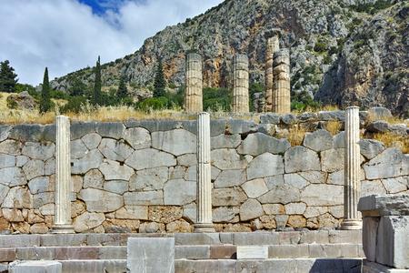 delphi: Ancient Greek archaeological site of Delphi,  Central Greece Stock Photo