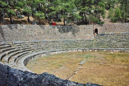 delphi: The mountain-top stadium at Delphi,  Central Greece