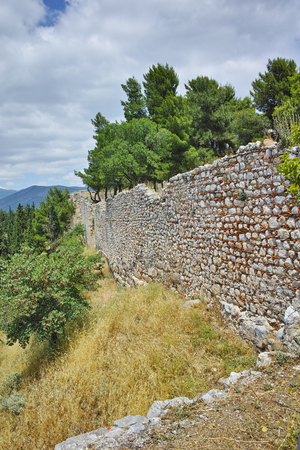 lamia: Wall of the castle of Lamia town, Central Greece