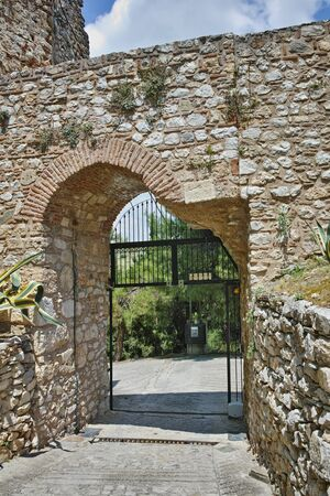 lamia: Entrance of the castle of Lamia City, Central Greece