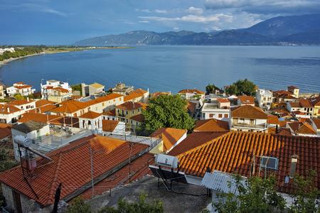 western town: amazing panorama of Nafpaktos town, Western Greece