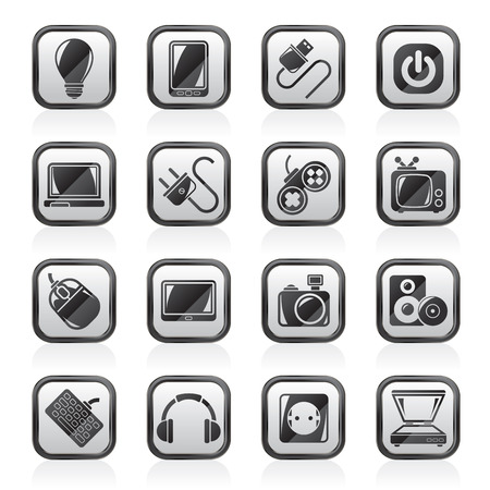 switcher: Electronic Devices objects icons - vector icon set