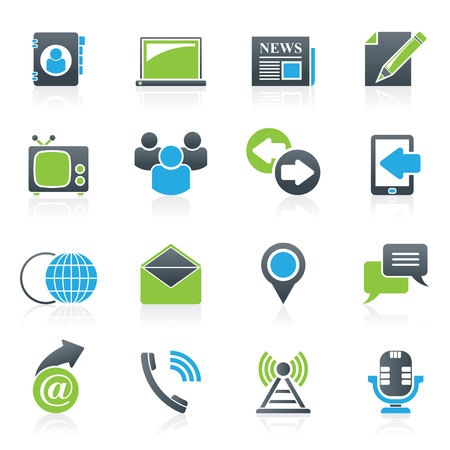 communication icons: Media and communication icons - vector icon set