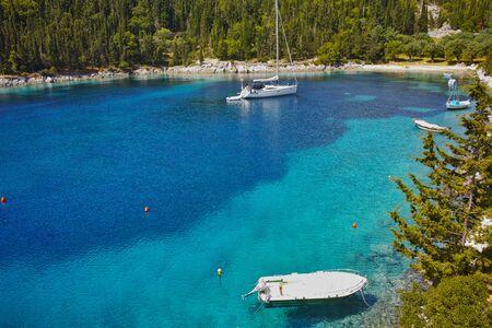 cefalonia: amazing panorama of Foki Fiskardo Beach, Kefalonia, Ionian islands, Greece