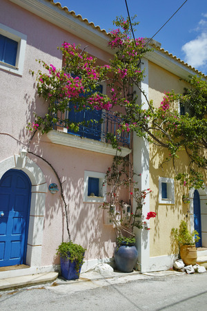 cefalonia: View of Assos village and beautiful sea bay, Kefalonia, Ionian islands, Greece Stock Photo
