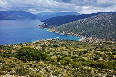 cefalonia: Panoramic view of Agia Efimia town, Kefalonia, Ionian islands, Greece Stock Photo