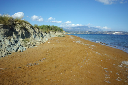 cefallonia: amazing view of Xi Beach,  beach with red sand in Kefalonia, Ionian islands, Greece