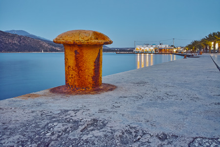 kefalinia: Night photo of embankment of Argostoli town, Kefalonia, Ionian islands, Greece