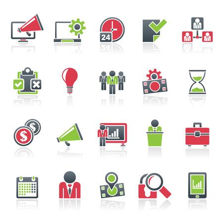 icon set: Business management concept icons -  icon set Illustration