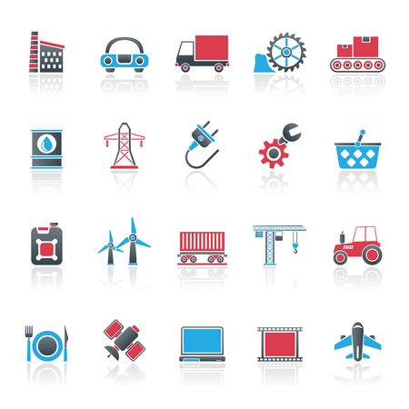 powerhouse: Business and industry icons -  icon set