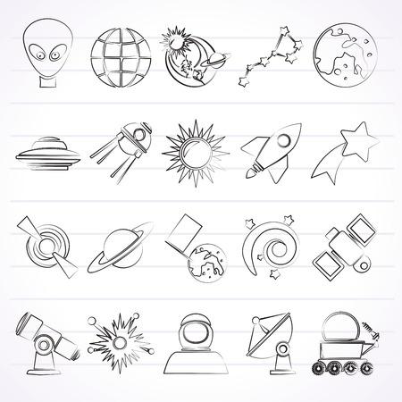 ursa: astronomy and space icons  -  icon set Illustration