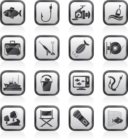 fishing bobber: Fishing industry icons Illustration