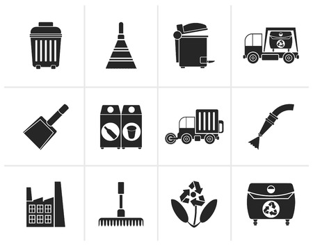 water mill: Black Cleaning Industry and environment Icons - vector icon set Illustration