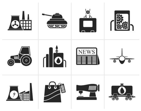 agrimotor: Black Business and industry icons - vector icon set