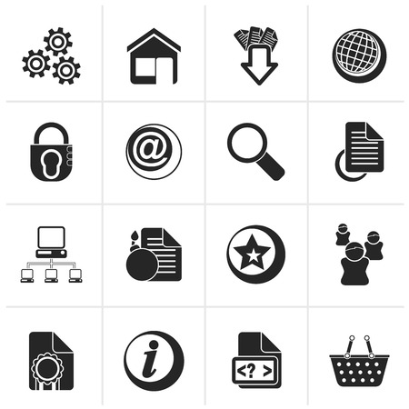 email bomb: Black Website and internet icons - vector icon set