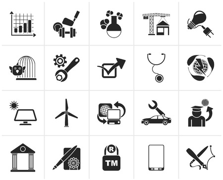 portal: Black Internet and Website Portal icons - vector icon set Illustration