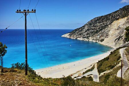 cefalonia: Landscape of Myrtos beach, Kefalonia, Ionian islands, Greece