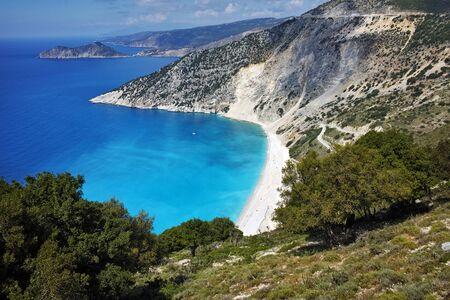 cefalonia: Amazing view of Myrtos beach, Kefalonia, Ionian islands, Greece