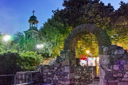 archeologist: Remains of from Ancient Sozopol and the church of St. George, Bulgaria