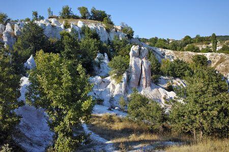 in mountain: Rock phenomenon Stone Wedding near town of Kardzhali,  Bulgaria Stock Photo