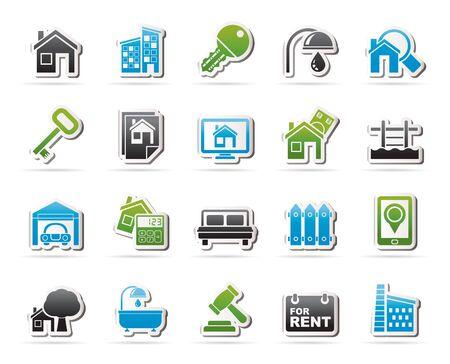 real estate business: Real Estate business Icons - Vector Icon Set