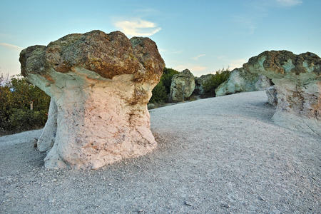 Prodigy: Sunrise at a rock formation The Stone Mushrooms near Beli plast village, Kardzhali Region, Bulgaria
