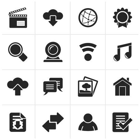 camra: Black Internet and website icons -  icon set