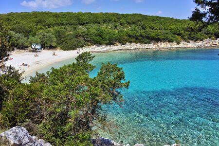 blue waters: Blue waters of Emblisi Fiskardo Beach, Kefalonia, Ionian islands, Greece