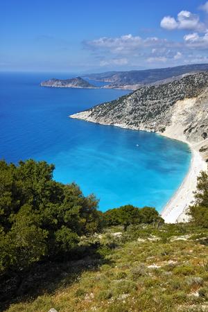 cefallonia: Panorama of Myrtos beach, Kefalonia, Ionian islands, Greece