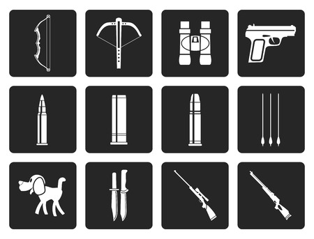 tommy: Black Hunting and arms Icons - Vector Icon Set