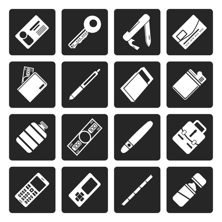 globule: Black Simple Vector Object Icons - Vector Icon Set