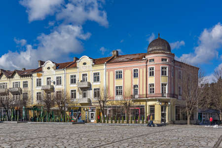central square: Central Square in town of Razlog,  Blagoevgrad region, Bulgaria