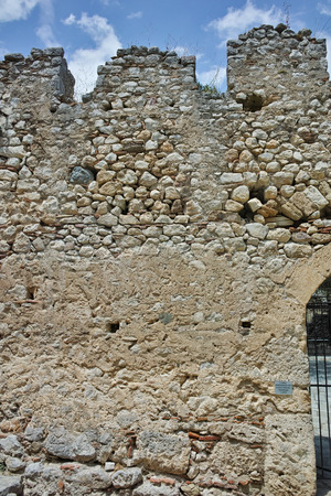 lamia: Wall of the castle of Lamia City, Central Greece Editorial