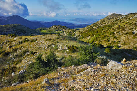 ionian: Amazing Landscape of mountain in Lefkada, Ionian Islands, Greece Stock Photo
