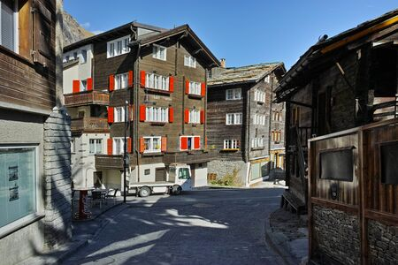 valais: Main street in Zermatt Resort, Canton of Valais, Switzerland Editorial