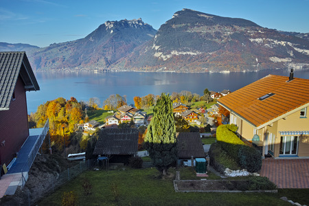 interlaken: Amazing view near town of interlaken, canton of Bern, Switzerland