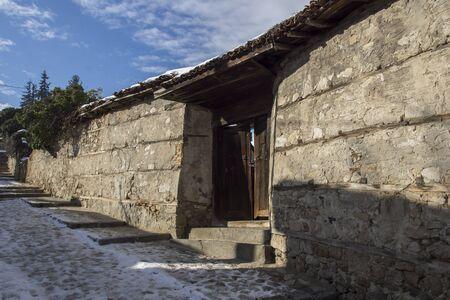 ethnographical: Street in historical town of Koprivshtitsa, Sofia Region, Bulgaria Stock Photo