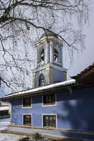 ethnographical: Old Cathedral church Assumption of St. Mary in Koprivshtitsa, Sofia Region, Bulgaria Stock Photo