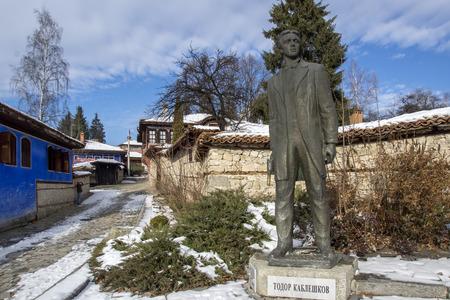 ethnographical: Monument of Todor Kableshkov  in historical town of Koprivshtitsa, Sofia Region, Bulgaria Editorial